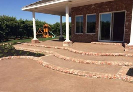 a picture of a new stone veneer patio in granite bay, ca