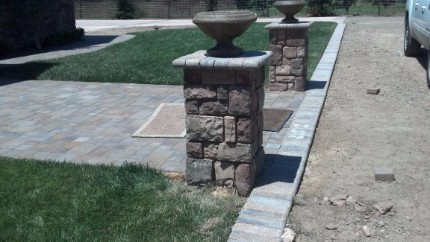 stacked stone pillar stone contractor granite bay
