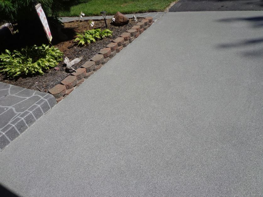 This is a picture of folsom concrete driveway stamping