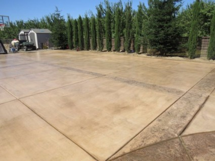 a picture of a stamped concrete construction project in antelope, ca