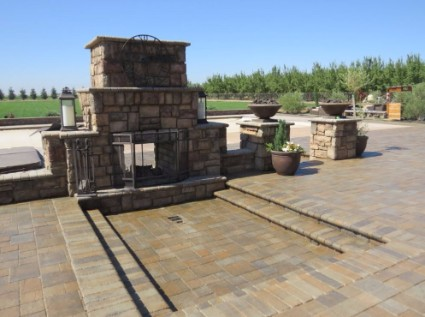 an image of a masonry pillar project in antelope, ca