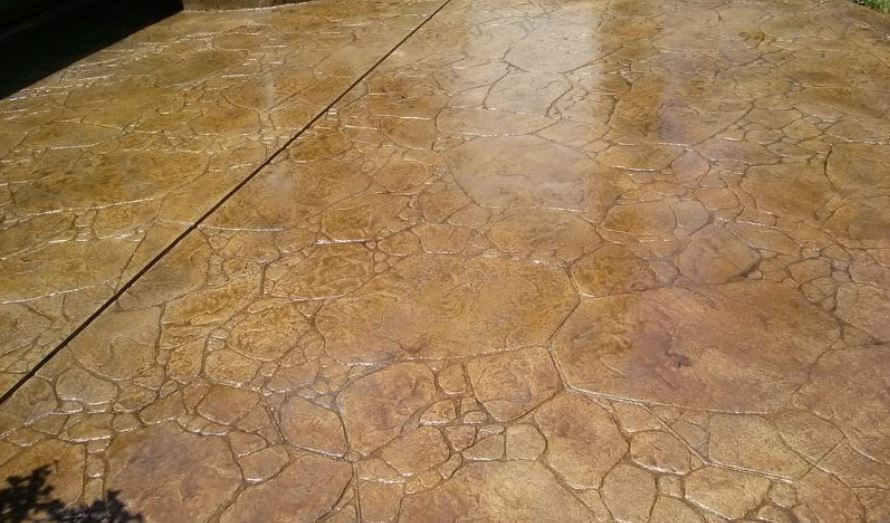 a picture of a new paved patio in Lodi, CA