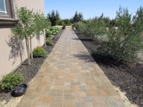 This is a picture of landscapers work in granite bay  california